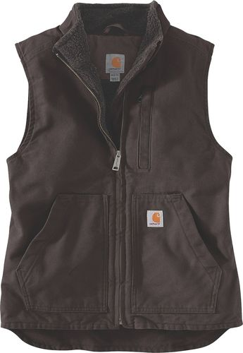 Carhartt ® Women Washed Duck Sherpa Lined Mock Neck Vest 104224